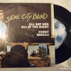 Discos de vinilo: STONE CITY BAND - ALL DAY AND ALL OF THE NIGHT / FUNKY REGGAE - MOTOWN-BELTER 1981 1-10171-A. Lote 182378458