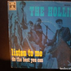 Discos de vinilo: THE HOLLIES- LISTEN TO ME. SINGLE.. Lote 182383748