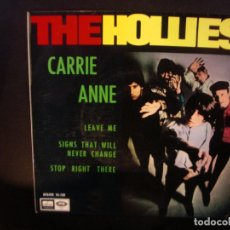 Discos de vinilo: THE HOLLIES- CARRIE ANN. EP. SOLO PORTADA . Lote 182384090