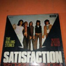 Discos de vinilo: THE ROLLING STONES. SATISFACTION Y 19ª CRISIS NERVIOSA. REEDITADO POR DECCA 1971. Lote 182390155