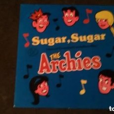 Discos de vinilo: MAXI SINGLE DE THE ARCHIES, SUGAR SUGAR (DOS VERSIONES + SUGAR AND SPICE, 1987). Lote 182392996