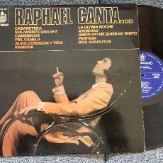 Discos de vinilo: RAPHAEL CANTA...LP EDITADO POR HISPAVOX. AÑO 1976. Lote 182393203