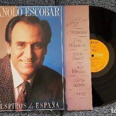 Discos de vinilo: MANOLO ESCOBAR. LP. SUSPIROS DE ESPAÑA. EDITADO POR RCA. AÑO. 1987. Lote 182401026