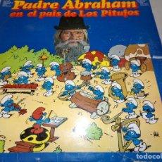 Discos de vinilo: PADRE ABRAHAM EN EL PAIS DE LOS PITUFOS - LP ESPAÑOL . Lote 182404853