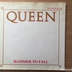 Discos de vinilo: QUEEN. HAMMER TO FALL ( VINILO MAXI-SINGLE 1984). Lote 182409688