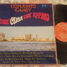 Discos de vinilo: CONJUNTO CANEY DESDE CUBA CON RITMO LP AREITO 1972. Lote 182412451