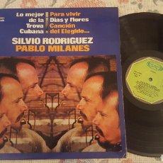 Discos de vinilo: SILVIO RODRIGUEZ PABLO MILANES TROVA CUBANA LP MOVIEPLAY. Lote 182413080