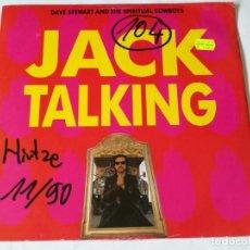 Discos de vinilo: DAVE STEWART AND THE SPIRITUAL COWBOYS - JACK TALKING - 1990. Lote 182431645