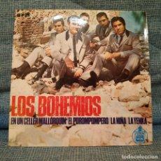 Discos de vinilo: LOS BOHEMIOS - EN UN CELLER MALLORQUIN + 3 - EP HISPAVOX DEL AÑO 1965 EN ESTADO INMACULADO. Lote 182436326
