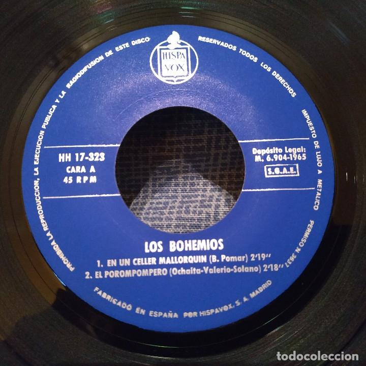 Discos de vinilo: LOS BOHEMIOS - EN UN CELLER MALLORQUIN + 3 - EP HISPAVOX DEL AÑO 1965 EN ESTADO INMACULADO - Foto 3 - 182436326