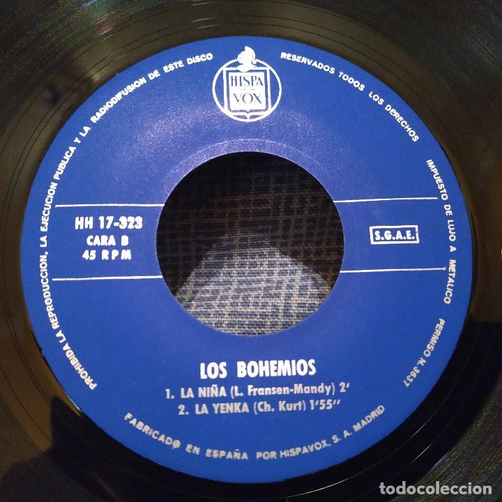 Discos de vinilo: LOS BOHEMIOS - EN UN CELLER MALLORQUIN + 3 - EP HISPAVOX DEL AÑO 1965 EN ESTADO INMACULADO - Foto 4 - 182436326