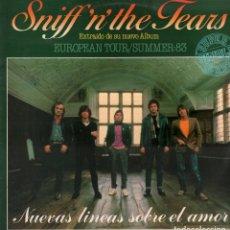Discos de vinilo: SNIFF N THE TEARS, NUEVAS LINEAS SOBRE EL AMOR-PUT YOUR MONEY WHERE YOUR MOUTH IS -MAXI-SINGLE. Lote 182453862