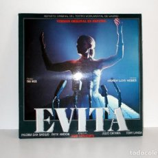 Discos de vinilo: EVITA - EN ESPAÑOL, REPARTO MADRILEÑO 1980 DOBLE LP, LIBRETO, EPC88524 NM/EX COMO NUEVO. Lote 182457520