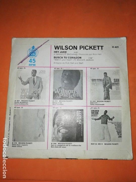Discos de vinilo: WILSON PICKETT. HEY JUDE. BUSCA TU CORAZON. ATLANTIC 1969 - Foto 2 - 182465885
