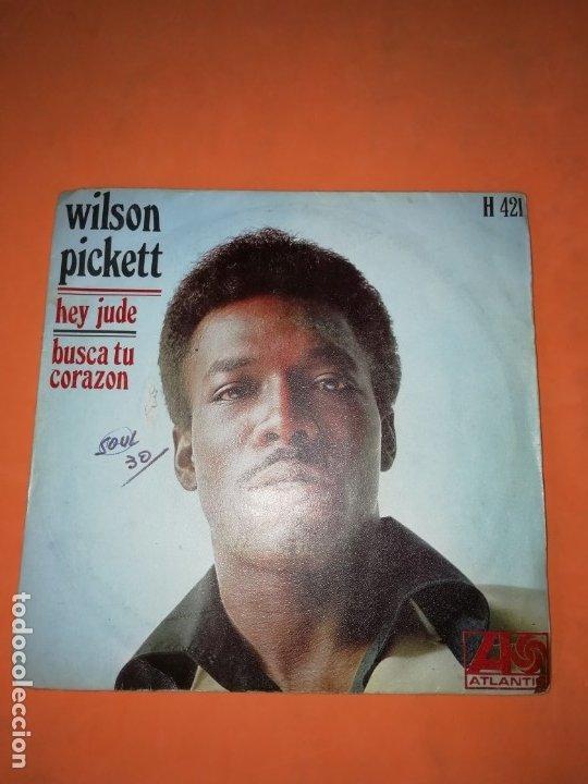 WILSON PICKETT. HEY JUDE. BUSCA TU CORAZON. ATLANTIC 1969 (Música - Discos - Singles Vinilo - Funk, Soul y Black Music)