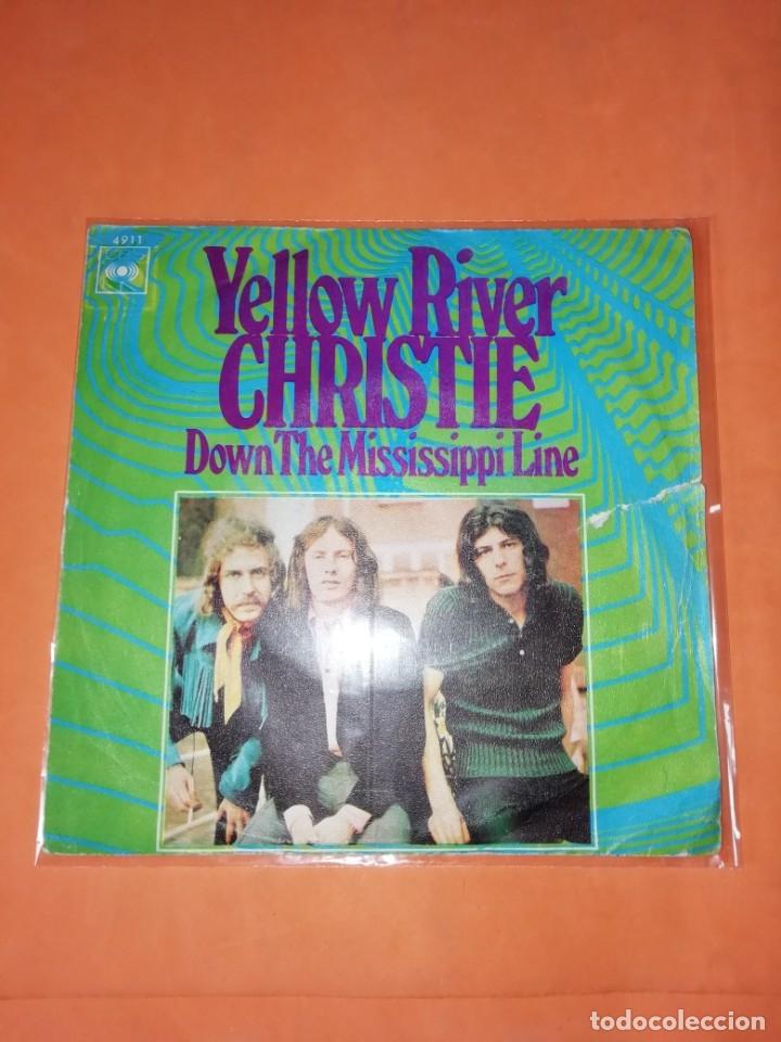 CHRISTIE. YELLOW RIVER. DOWN THE MISSISSIPPI LINE. CBS 1970 (Música - Discos - Singles Vinilo - Pop - Rock Extranjero de los 50 y 60)