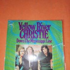 Discos de vinilo: CHRISTIE. YELLOW RIVER. DOWN THE MISSISSIPPI LINE. CBS 1970. Lote 182469415