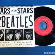 Discos de vinilo: BEATLES SINGLE EP CIRCULO INTERNACIONAL STARS OF THE STARS ESPAÑA 1965 EDICION RED PERGOLA COLECCION. Lote 206340066