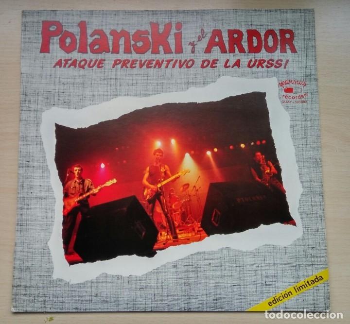 POLANSKY Y EL ARDOR - ATAQUE PREVENTIVO DE LA URSS, MAXI ED. LIM. SELLO SPANSULS 1982/ PUNK (Música - Discos de Vinilo - Maxi Singles - Grupos Españoles de los 70 y 80)
