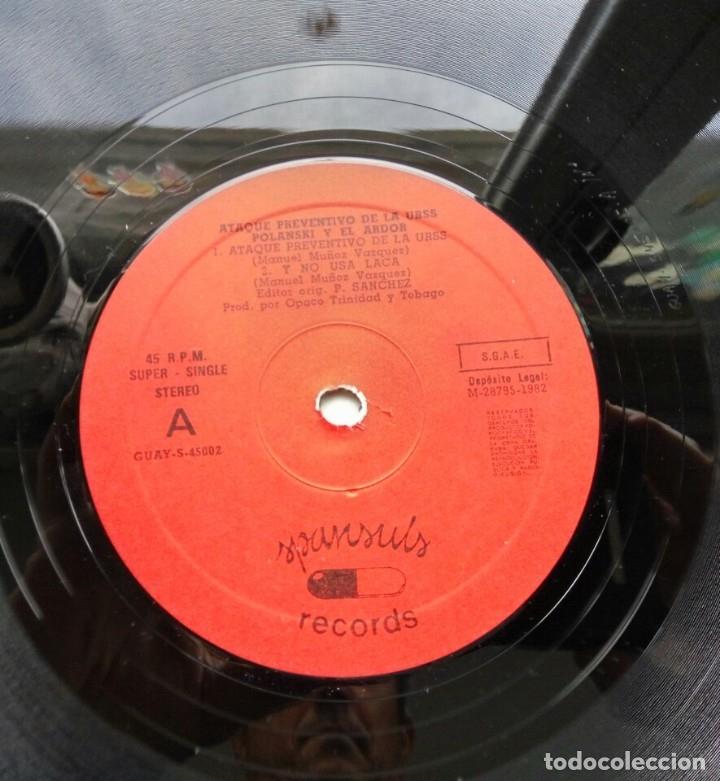 Discos de vinilo: Polansky y el ardor - ataque preventivo de la URSS, maxi Ed. Lim. Sello spansuls 1982/ punk - Foto 3 - 182480752