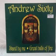 Discos de vinilo: MAXI SINGLE - ANDREW SIXTY / STAND BY ME / GREAT BALLS OF FIRE. Lote 182489937