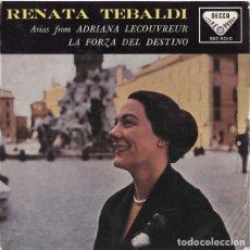 Discos de vinilo: ARIAS FROM ADRIANA LECOUVREUR / LA FORZA DEL DESTINO - RENATA TEBALDI WITH ORCHESTRA DELL'ACCADEMIA. Lote 181331680