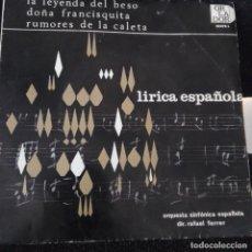 Discos de vinilo: ORQUESTA SINFONICA ESPAÑOLA (DIR. RAFAEL FERRER) - LIRICA ESPAÑOLA. Lote 182503266