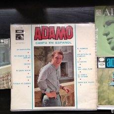 Discos de vinilo: LOTE DE SALVATORE ADAMO,,,,1 LP,,,2, EP Y 1 SINGLE,,,,1966,,,1967,,,1970. Lote 182503743