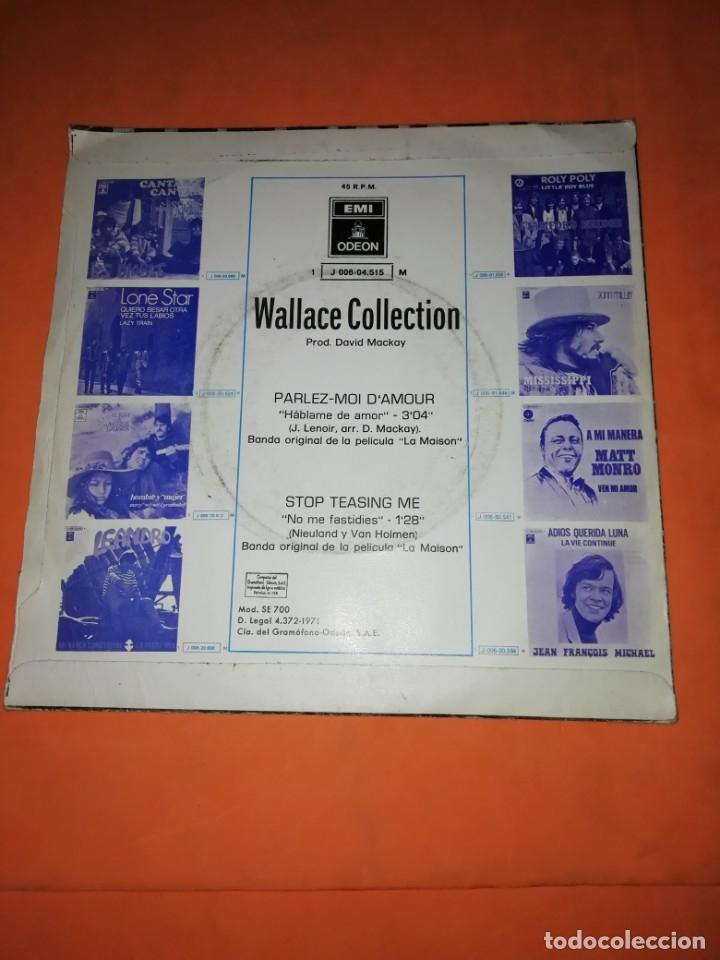 Discos de vinilo: WALLACE COLLECTION. PARLEZ MOI D,AMOUR. STOP TEASING ME. EMI ODEON 1971 - Foto 2 - 182503822