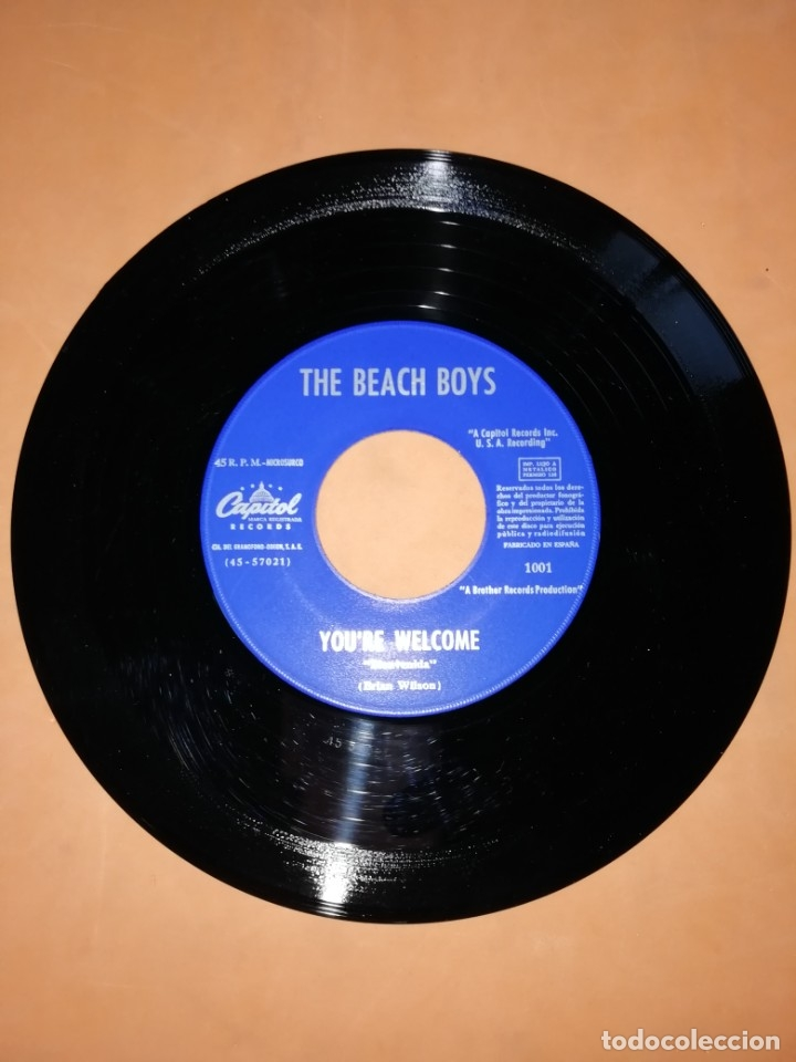 Discos de vinilo: THE BEACH BOYS. HEROES AND VILLAINS. YOU,RE WELCOME. CAPITOL RECORDS 1967 - Foto 4 - 182504645