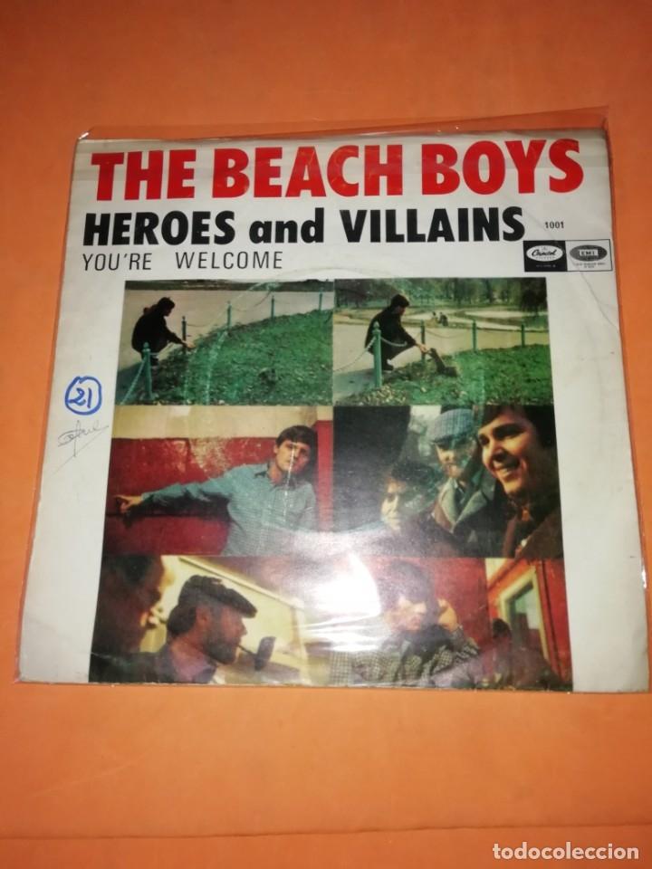 THE BEACH BOYS. HEROES AND VILLAINS. YOU,RE WELCOME. CAPITOL RECORDS 1967 (Música - Discos - Singles Vinilo - Pop - Rock Extranjero de los 50 y 60)