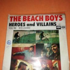 Discos de vinilo: THE BEACH BOYS. HEROES AND VILLAINS. YOU,RE WELCOME. CAPITOL RECORDS 1967. Lote 182504645