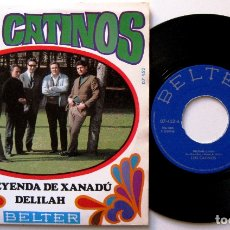 Discos de vinilo: LOS CATINOS - DELILAH / LA LEYENDA DE XANADÚ - SINGLE BELTER 1968 BPY. Lote 182520182
