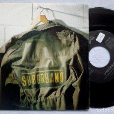 Discos de vinilo: SUBURBANO - LA TIERRA SE MUEVE - SINGLE PROMOCIONAL 1993 - ABISPA. Lote 182526337