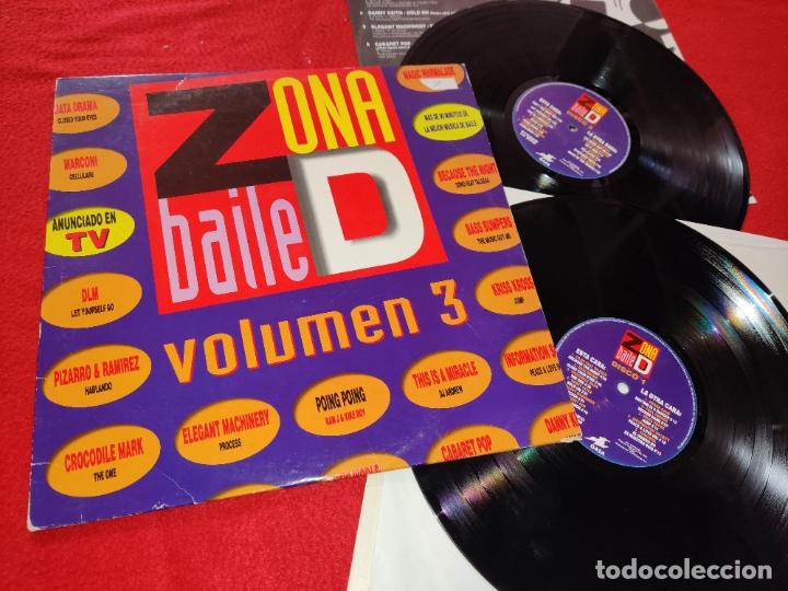 ZONA DE BAILE VOL.3 2LP 1992 ESPAÑA SPAIN RECOPILATORIO FANGORIA+P.PARKER+POWER BAND+DATA DRAMA+ETC (Música - Discos - LP Vinilo - Disco y Dance)