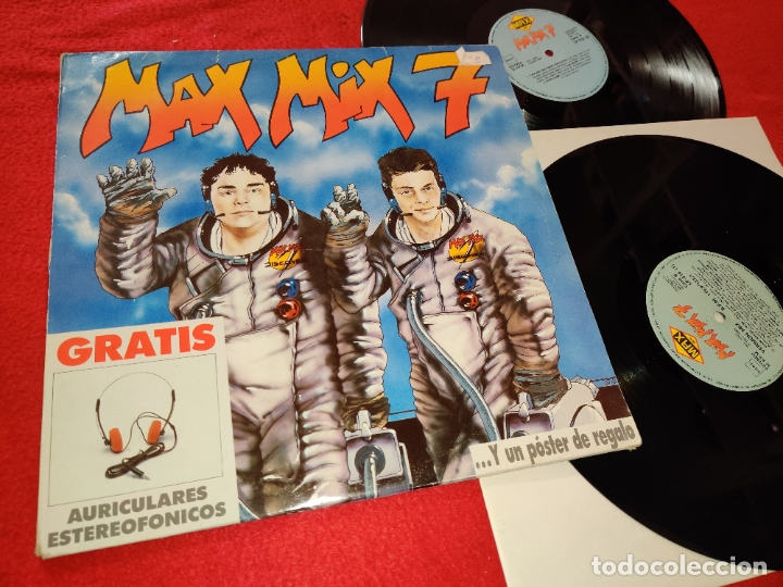 MAX MIX 7 2LP 1988 MAX MUSIC ESPAÑA SPAIN RECOPILATORIO STEVE CLARK+CLUB HOUSE+YELLO+ETC (Música - Discos - LP Vinilo - Disco y Dance)