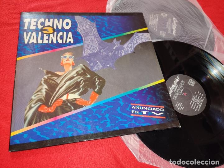 TECHNO VALENCIA VOL.3 2LP 1993 GATEFOLD ESPAÑA SPAIN RECOPILATORIO SEVENEBB+METRO+SPOOK+ETC (Música - Discos - LP Vinilo - Disco y Dance)
