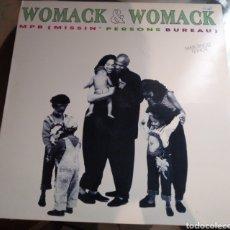 Discos de vinilo: WOMACK & WOMACK - MPB ( MISSIN' PERSONS BUREAU). Lote 182533612