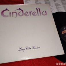 Discos de vinilo: CINDERELLA LONG COLD WINTER LP 1988 MERCURY USA. Lote 182544703