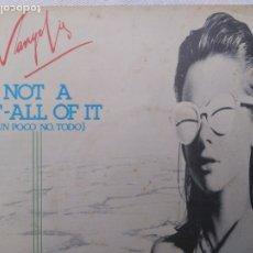 Discos de vinilo: VANGELIS.NOT AT BIT ALL OF IT.RARO SINGLE. Lote 182546442