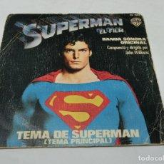 Dischi in vinile: SINGLE - SUPERMAN - TEMA PRINCIPAL DE SUPERMAN - EL FILM - JOHN WILLIAMS - 1978. Lote 182550490