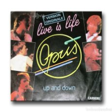 Discos de vinilo: OPUS - LIVE IS LIFE . Lote 182563518