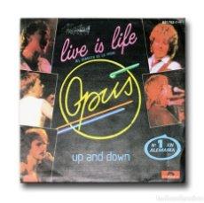 Discos de vinilo: OPUS - LIVE IS LIFE (EL DIRECTO ES LA VIDA). Lote 182564355