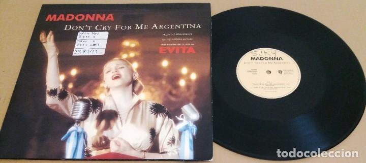 MADONNA / DON'T CRY FOR ME ARGENTINA (MADE IN GERMANY 1996) / MAXI-SINGLE (Música - Discos de Vinilo - Maxi Singles - Pop - Rock Extranjero de los 90 a la actualidad)