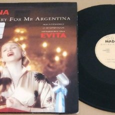 Discos de vinilo: MADONNA / DON'T CRY FOR ME ARGENTINA (MADE IN GERMANY 1996) / MAXI-SINGLE . Lote 182568838
