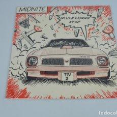 Discos de vinilo: MIDNITE - NEVER GONNA STOP 12''. Lote 182572205