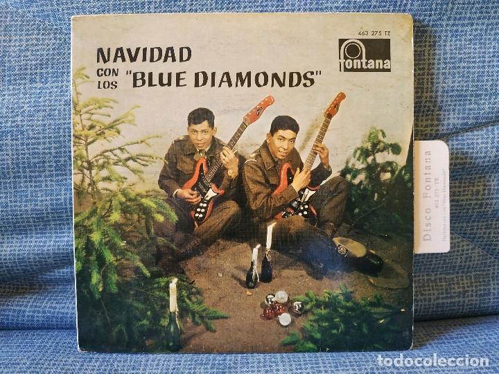 NAVIDAD CON LOS BLUE DIAMONDS - JINGLE BELLS EP FONTANA AÑO 1962 PESTAÑA Y FUNDA INTERIOR ORIGINALES (Música - Discos de Vinilo - EPs - Grupos Españoles 50 y 60)