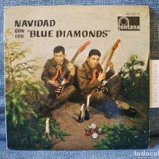 Discos de vinilo: NAVIDAD CON LOS BLUE DIAMONDS - JINGLE BELLS EP FONTANA AÑO 1962 PESTAÑA Y FUNDA INTERIOR ORIGINALES. Lote 182582671