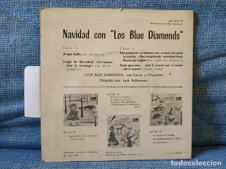 Discos de vinilo: NAVIDAD CON LOS BLUE DIAMONDS - JINGLE BELLS EP FONTANA AÑO 1962 PESTAÑA Y FUNDA INTERIOR ORIGINALES - Foto 2 - 182582671