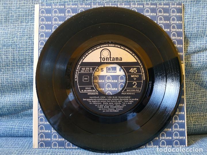 Discos de vinilo: NAVIDAD CON LOS BLUE DIAMONDS - JINGLE BELLS EP FONTANA AÑO 1962 PESTAÑA Y FUNDA INTERIOR ORIGINALES - Foto 3 - 182582671